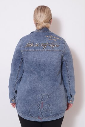 Джинсовый пиджак Busca C2109-9232