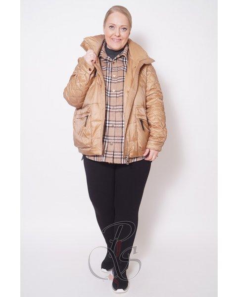 Женская двойная куртка (жилет+ рубашка) Darani U2117-9737