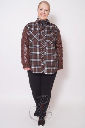 Женская двойная куртка (жилет+ рубашка) RUFUETE U2117-9829