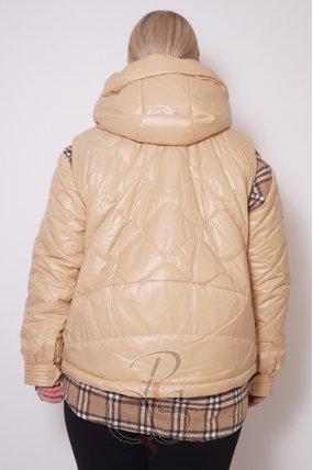 Женская двойная куртка (жилет+ рубашка) RUFUETE U2117-9841
