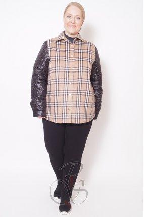 Женская двойная куртка (жилет+ рубашка) Darani U2117-9943