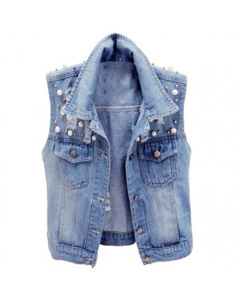 Жилет джинсовый женский Vitta Luxe R2021-4555