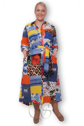 Платье - рубашка женское PepperStyle P2140-3246