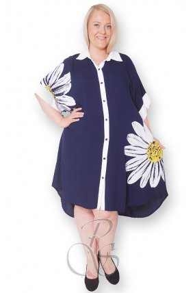 Платье - рубашка женское PepperStyle P2148-4009