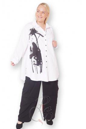 Рубашка белая женская PepperStyle P2156-4864