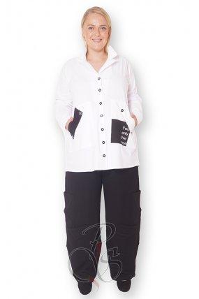 Рубашка белая женская PepperStyle P2156-4959