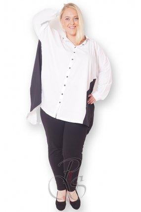 Рубашка белая женская PepperStyle P2157-5193